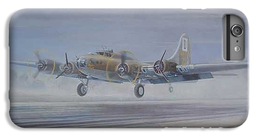 The Only Survivor Of The 100th Bomb Group On The October 10 IPhone 6 Plus Case featuring the painting The Royal Flush Comes Home by Scott Robertson
