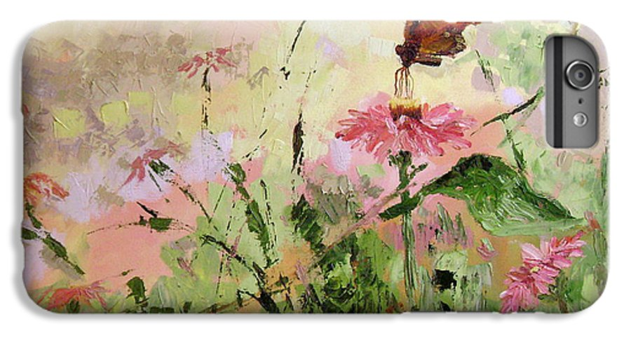 Butterflies IPhone 6 Plus Case featuring the painting The Seeker by Ginger Concepcion