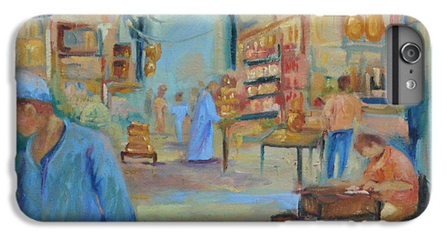 Figurative IPhone 6 Plus Case featuring the painting The Souk by Ginger Concepcion