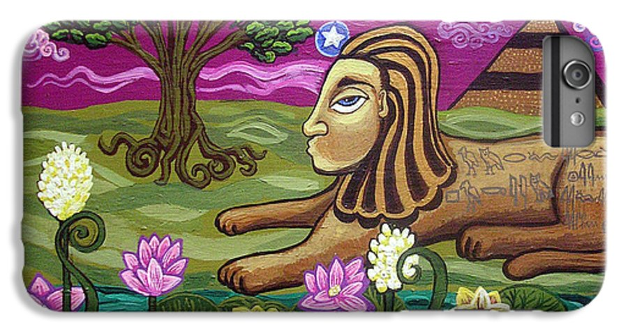 Egypt IPhone 6 Plus Case featuring the painting The Sphinx by Genevieve Esson