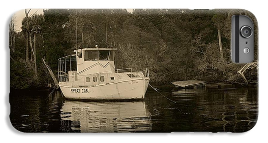 Boat IPhone 6 Plus Case featuring the painting The Spray Can Sepia by Debbie May