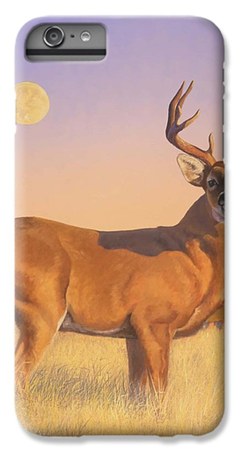 Deer IPhone 6 Plus Case featuring the painting The Stag by Howard Dubois