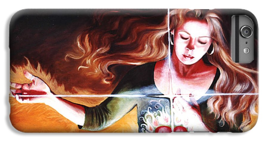 Christian IPhone 6 Plus Case featuring the painting The Stirring by Teresa Carter