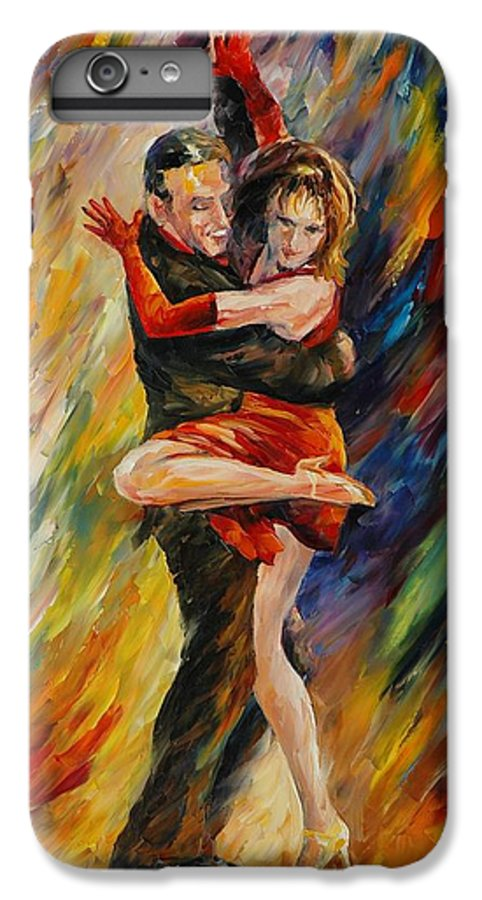 Dance IPhone 6 Plus Case featuring the painting The Sublime Tango by Leonid Afremov