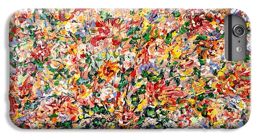 Flowers IPhone 6 Plus Case featuring the painting The Sunlight Flowers by Leonard Holland