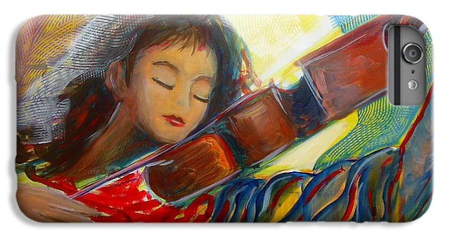 Violin IPhone 6 Plus Case featuring the painting The Sweetest Sounds by Regina Walsh
