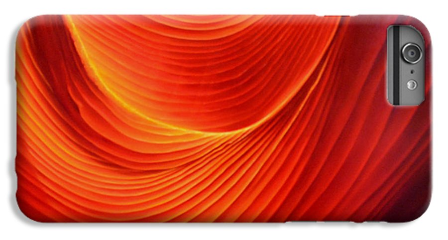 Antelope Canyon IPhone 6 Plus Case featuring the painting The Swirl by Anni Adkins