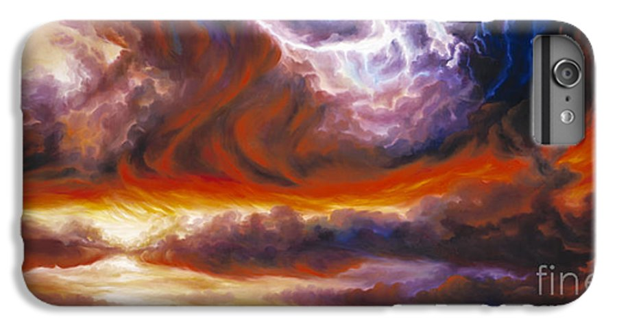 Tempest IPhone 6 Plus Case featuring the painting The Tempest by James Christopher Hill