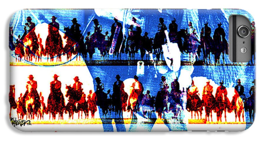 Cowboys IPhone 6 Plus Case featuring the digital art The Tenderfoot by Seth Weaver