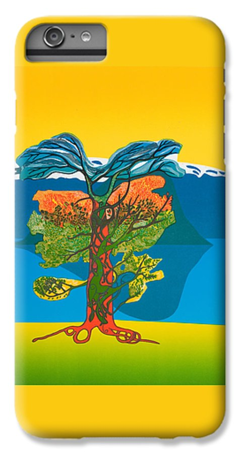 Landscape IPhone 6 Plus Case featuring the mixed media The Tree Of Life. From The Viking Saga. by Jarle Rosseland