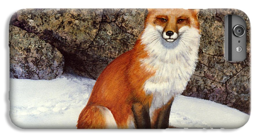Wildlife IPhone 6 Plus Case featuring the painting The Wait Red Fox by Frank Wilson