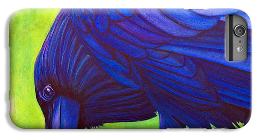 Raven IPhone 6 Plus Case featuring the painting The Witness by Brian Commerford