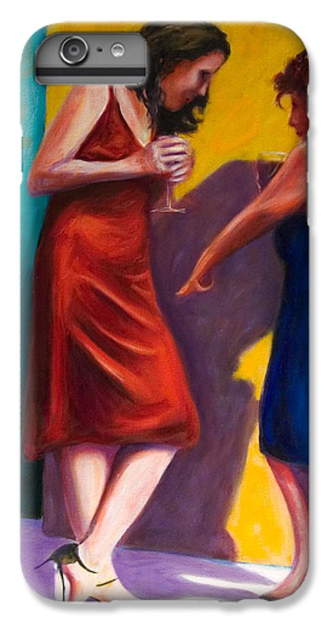 Figurative IPhone 6 Plus Case featuring the painting There by Shannon Grissom