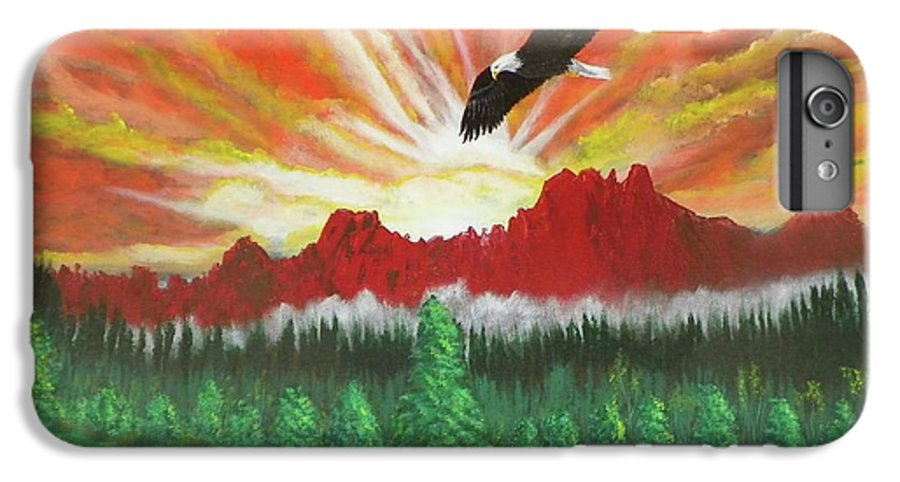 Acrylic IPhone 6 Plus Case featuring the painting They That Wait Upon The Lord  Isa 40 31 by Laurie Kidd