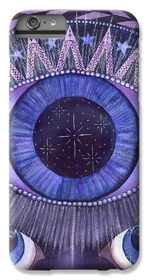Thrid Eye IPhone 6 Plus Case featuring the painting Third Eye Chakra by Catherine G McElroy