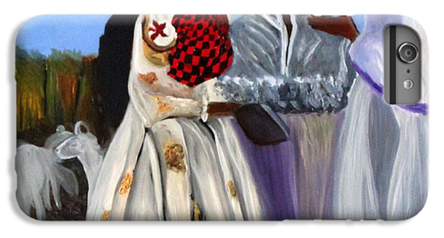 IPhone 6 Plus Case featuring the painting Three African Women by Pilar Martinez-Byrne