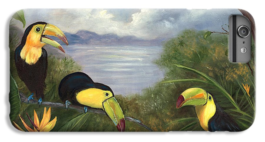 Landscape IPhone 6 Plus Case featuring the painting Three Cans by Anne Kushnick