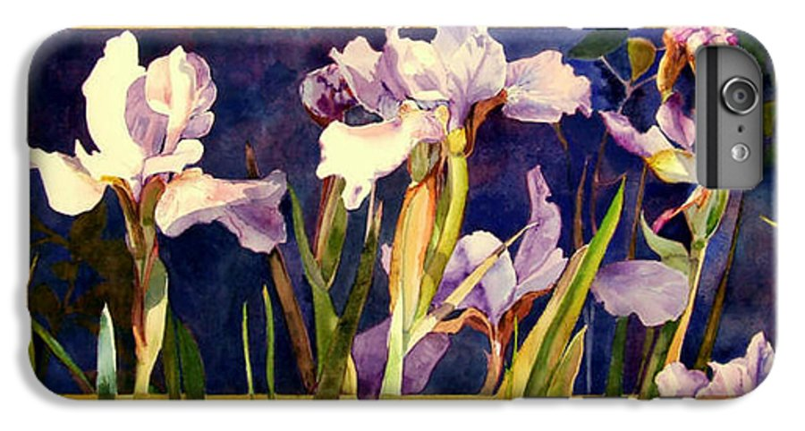 Irises IPhone 6 Plus Case featuring the painting Three Gossips by Linda Marie Carroll