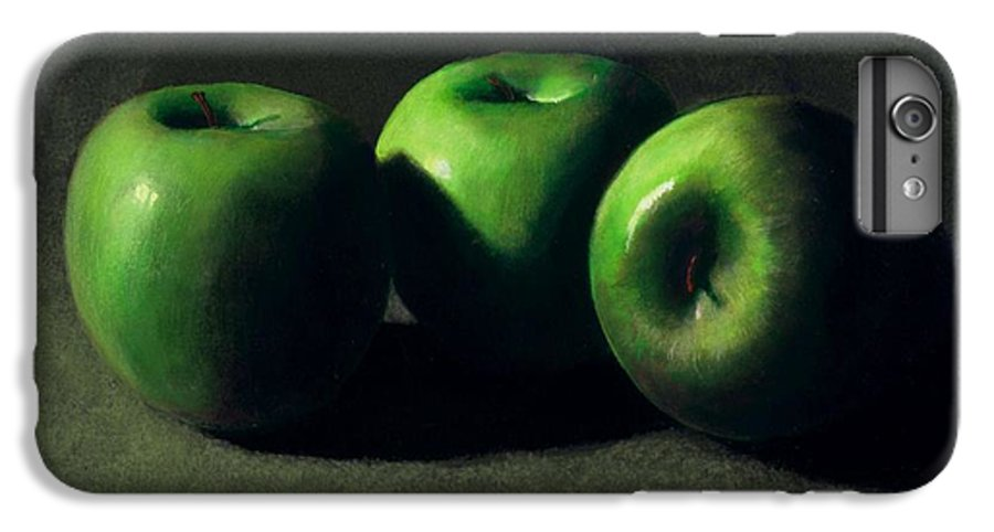 Still Life IPhone 6 Plus Case featuring the painting Three Green Apples by Frank Wilson