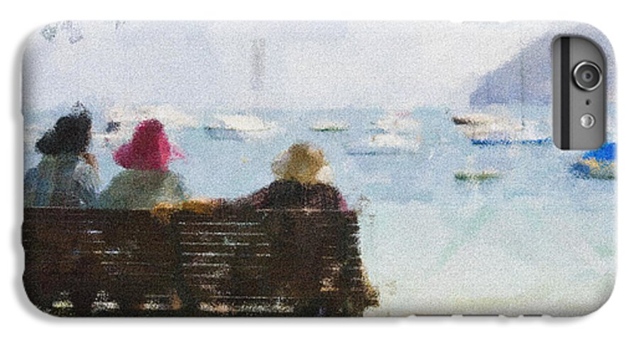 Impressionism Impressionist Water Boats Three Ladies Seat IPhone 6 Plus Case featuring the photograph Three Ladies by Sheila Smart Fine Art Photography