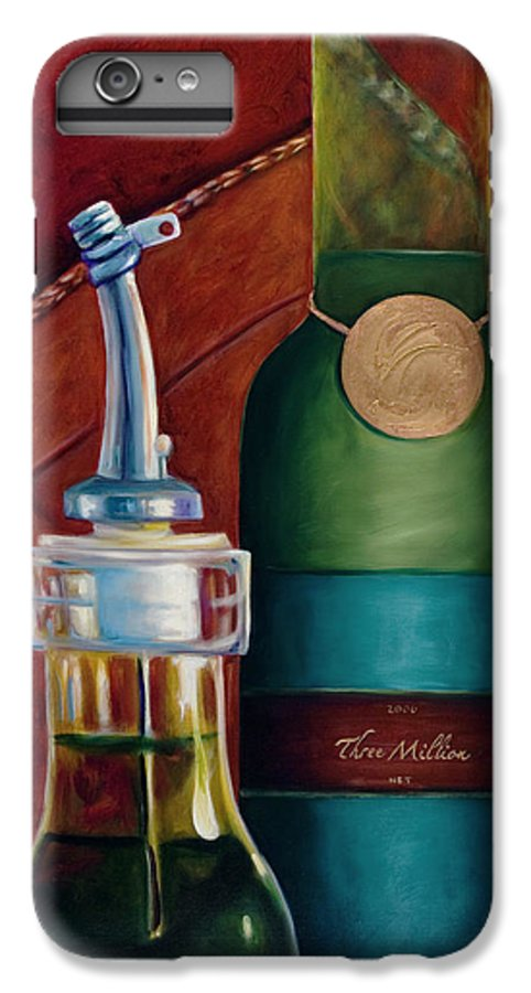 Olive Oil IPhone 6 Plus Case featuring the painting Three Million Net by Shannon Grissom