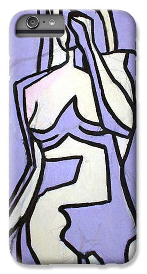 Nudes IPhone 6 Plus Case featuring the painting Three by Thomas Valentine