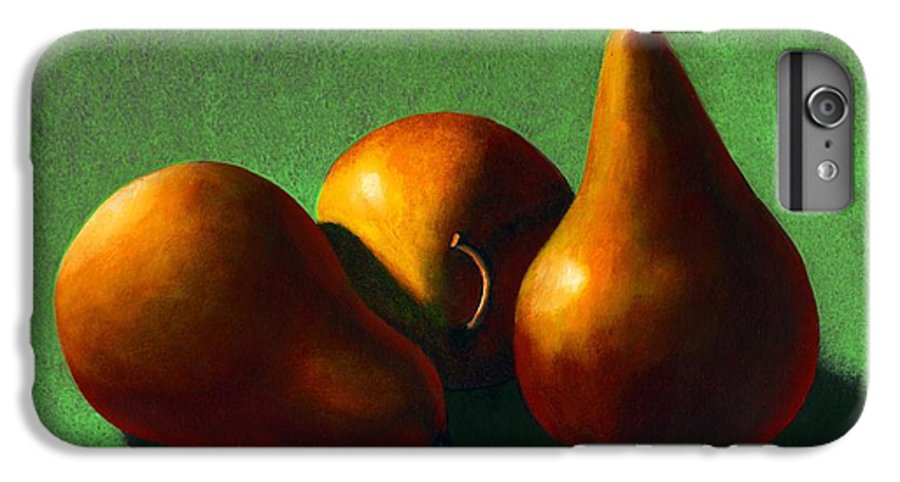 Still Life IPhone 6 Plus Case featuring the painting Three Yellow Pears by Frank Wilson