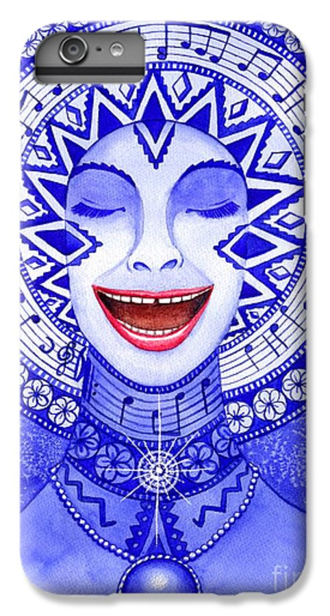 Chakra IPhone 6 Plus Case featuring the painting Throat Chakra by Catherine G McElroy