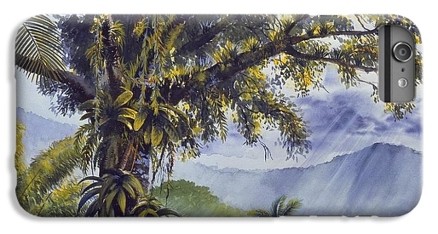 Chris Cox IPhone 6 Plus Case featuring the painting Through The Canopy by Christopher Cox