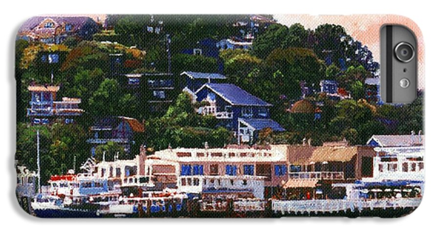 Landscape IPhone 6 Plus Case featuring the painting Tiburon California Waterfront by Frank Wilson