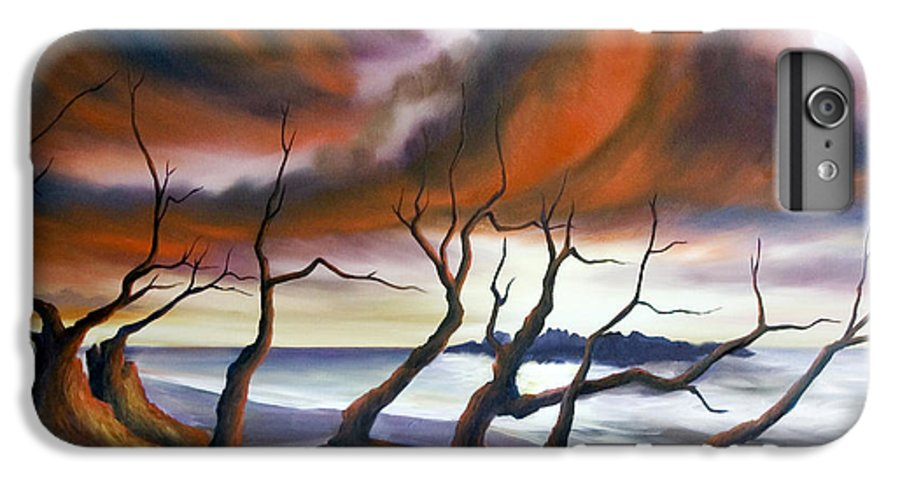 Marsh IPhone 6 Plus Case featuring the painting Tideland by James Christopher Hill