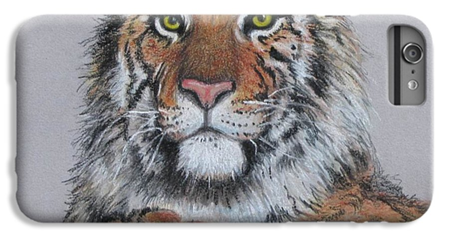 Tiger IPhone 6 Plus Case featuring the painting Tiger by Tanja Ware
