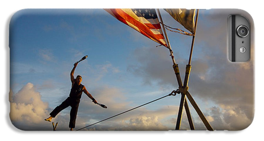 Balance IPhone 6 Plus Case featuring the photograph Tight Rope Walker In Key West by Carl Purcell