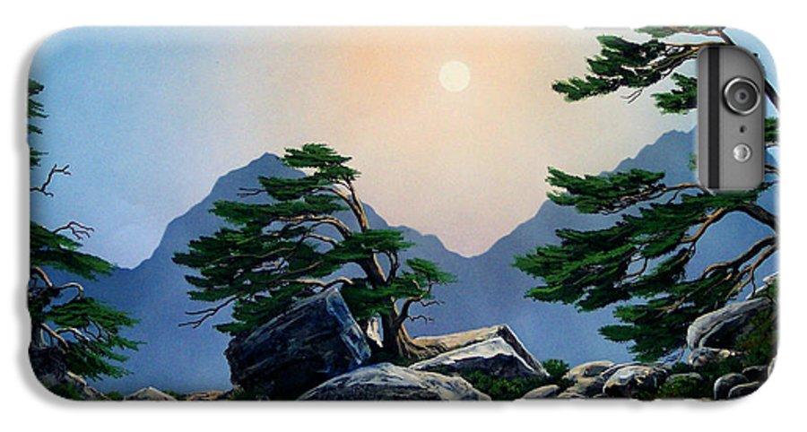 Timberline Guardians IPhone 6 Plus Case featuring the painting Timberline Guardians by Frank Wilson