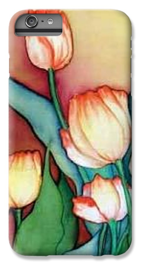 Silks IPhone 6 Plus Case featuring the painting Time For Tulips by Francine Dufour Jones