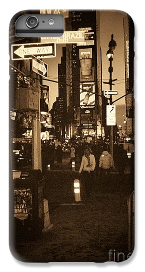 New York IPhone 6 Plus Case featuring the photograph Times Square by Debbi Granruth