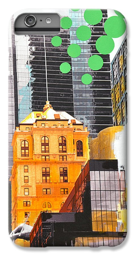 Ny IPhone 6 Plus Case featuring the painting Times Square Ny Advertise by Jean Pierre Rousselet