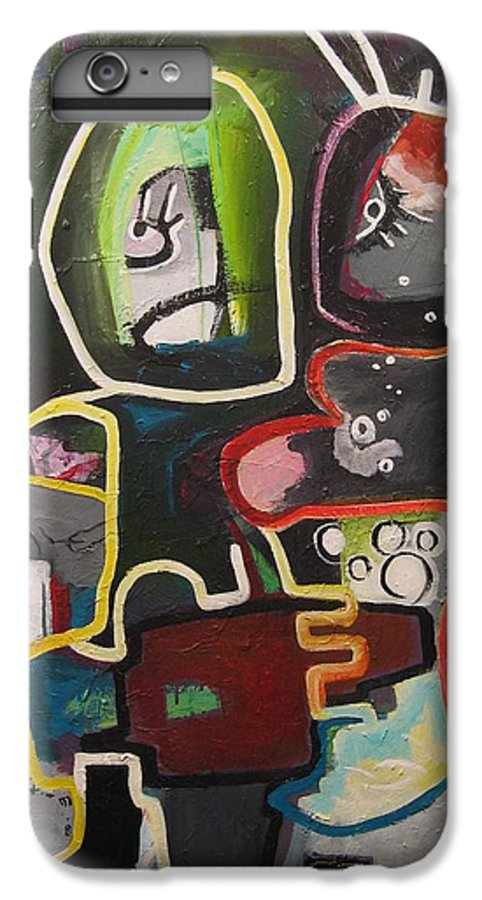 Couple Paintings IPhone 6 Plus Case featuring the painting To Get Along by Seon-Jeong Kim