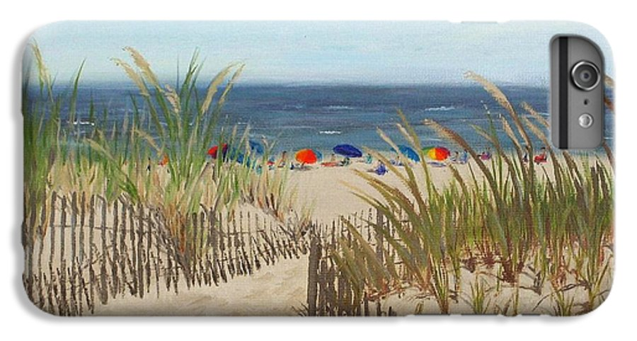 Beach IPhone 6 Plus Case featuring the painting To The Beach by Lea Novak