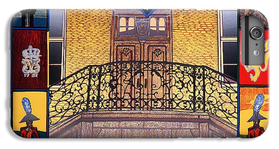 Historic IPhone 6 Plus Case featuring the mixed media Tollbugata 10 - The Old Academie by Jarle Rosseland