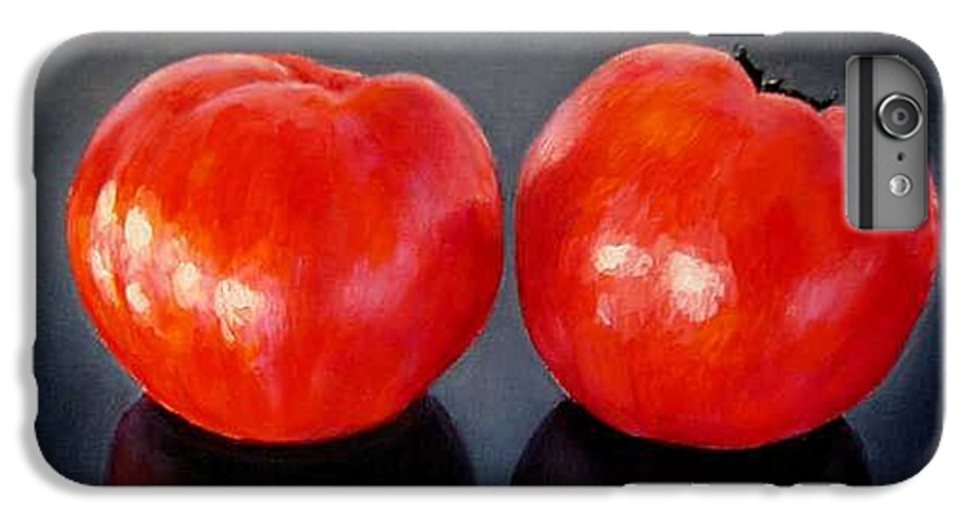 Tomatoes IPhone 6 Plus Case featuring the painting Tomatoes Original Oil Painting by Natalja Picugina