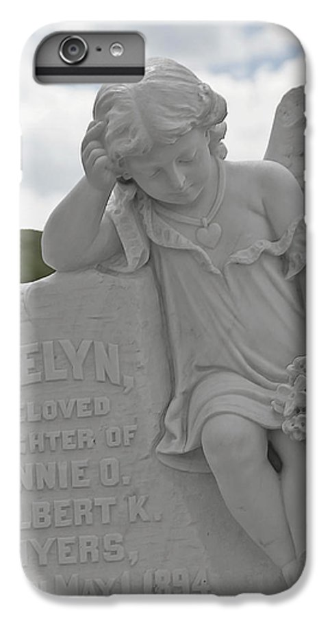 Bodie IPhone 6 Plus Case featuring the photograph Tombstone Angel For An Angel by Christine Till