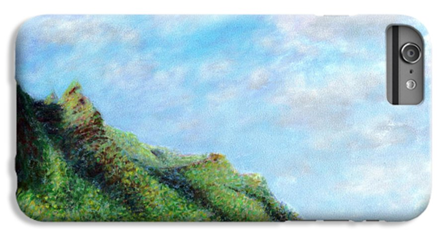 Coastal Decor IPhone 6 Plus Case featuring the painting Tondo by Kenneth Grzesik