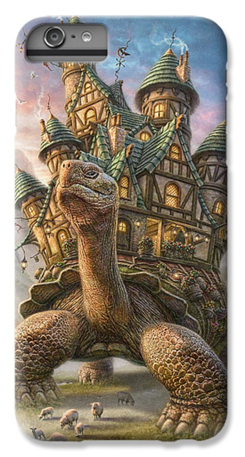 Tortoise IPhone 6 Plus Case featuring the mixed media Tortoise House by Phil Jaeger