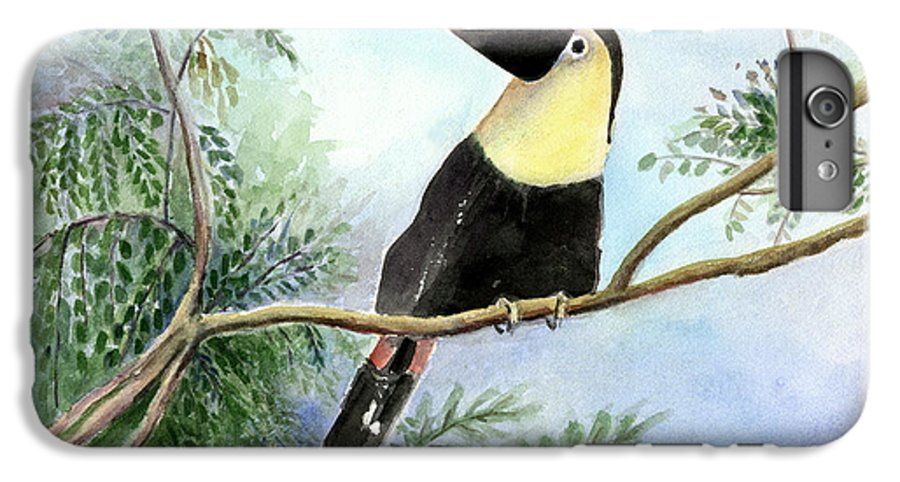 Toucan IPhone 6 Plus Case featuring the painting Toucan by Arline Wagner