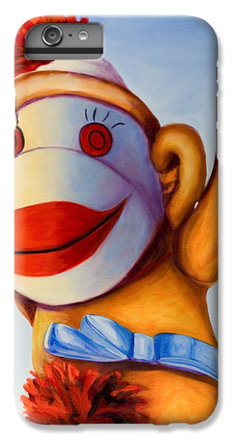 Children IPhone 6 Plus Case featuring the painting Touchdown by Shannon Grissom