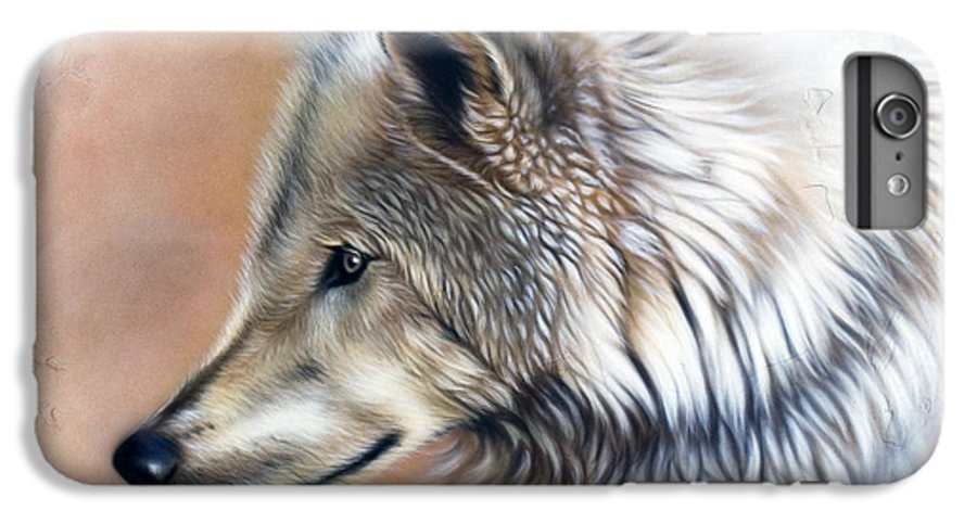 Wolves IPhone 6 Plus Case featuring the painting Trace IIi by Sandi Baker