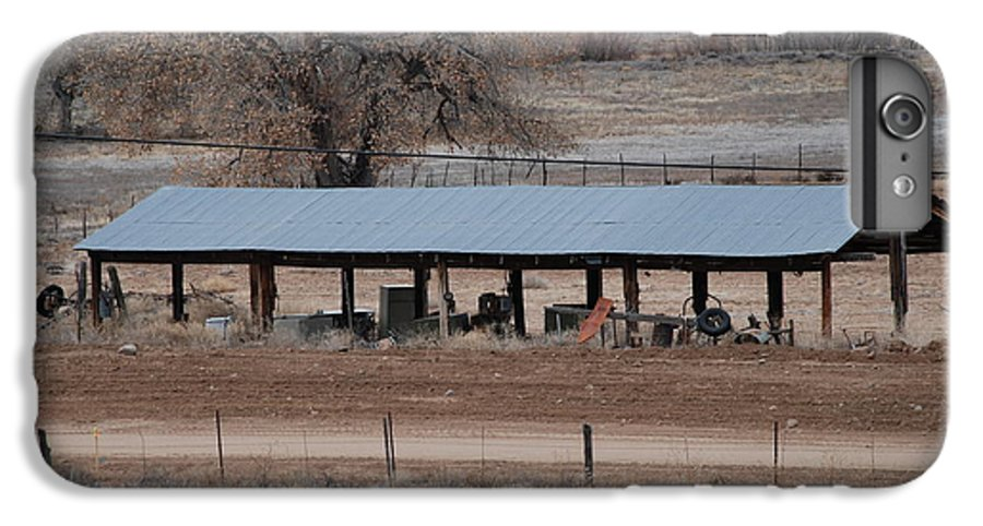 Architecture IPhone 6 Plus Case featuring the photograph Tractor Port On The Ranch by Rob Hans