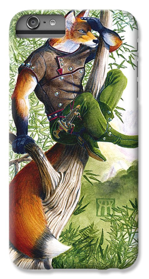 Fantasy IPhone 6 Plus Case featuring the painting Trail Blazing Fox by Melissa A Benson