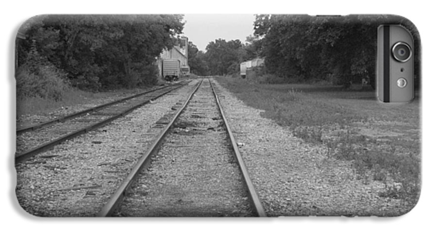 Train IPhone 6 Plus Case featuring the photograph Train To Nowhere by Rhonda Barrett